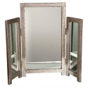 Mirror Moc Croc Aged Silver Dressing Table Mirror