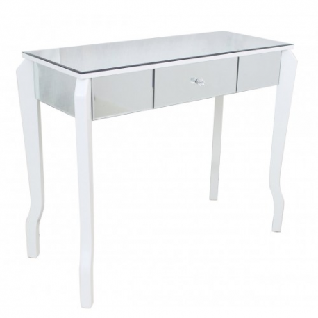 table mirrored drawers console beach hamlin drawer with