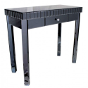 Smoke Black Mirror One Drawer Console Table