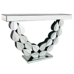 Premium Leaf Mirror Console Table