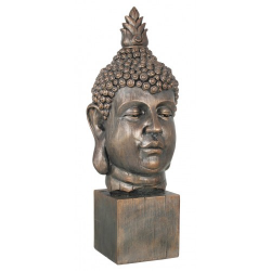 Bronze Buddha On Plinth Ornament