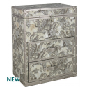 Mocha Paisley 2 Drawer Bedside Trunk