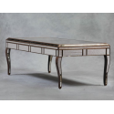 Antiqued Glass Sorrento Gold Large Dining Table