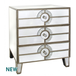Gatsby Mirror 3 Drawer Bed Side Lamp Table