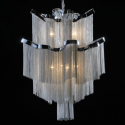 Medium Chrome Chain Chandelier Light