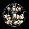 Chrome Extra Large Sphere Shade Chandelier
