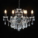 Black Shallow 6 Branch Chandelier