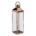 Extra Large Square Polished Copper and Glass Lantern