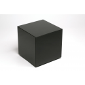 Black Venetian Glass Cube Side Table