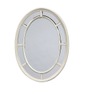 Cream/Antique White Oval Multi Mirror