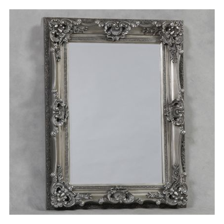 Antique silver small regal mirror for Small silver mirror
