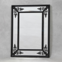 Black Square French Mirror