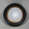 Medium Deep Black Framed Convex Mirror
