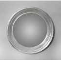 Medium Deep Silver Framed Convex Mirror