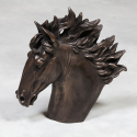 Extra Large Black Bronze Effect Horse Head Statue