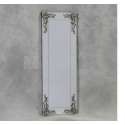 Large Rectangular Frameless Mirror with 'Metallic' Corner Detail