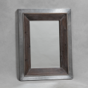 Manhattan Aluminium and Wood Medium Rectangular Wall Mirror