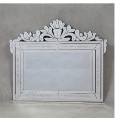 Large Etched Venetian Overmantle Mirror