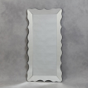 Tall Venetian Frilled Edged Wall Mirror