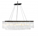 Chrome Prism Drop Rectangular Cascade Chandelier