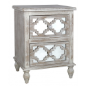 Hilton Beach 2 Drawer Bedside Cabinet