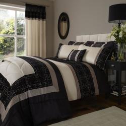 Catherine Lansfield Black Geo Pattern Bedding