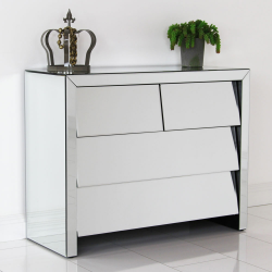 Venetian Clear Slanted Chest of Drawers