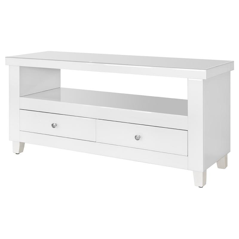 white glass furniture. white glass two drawer tv unit furniture m