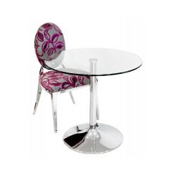 Glass Large Circular Bistro Table