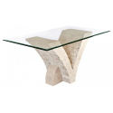 Seagull Glass And Stone Dining Table