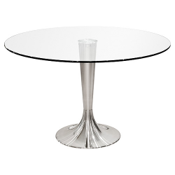 Sandringham Glass Top and Chrome Dining Table