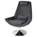 Tannar Grey and Orange Stitched Leisure Swivel Chair