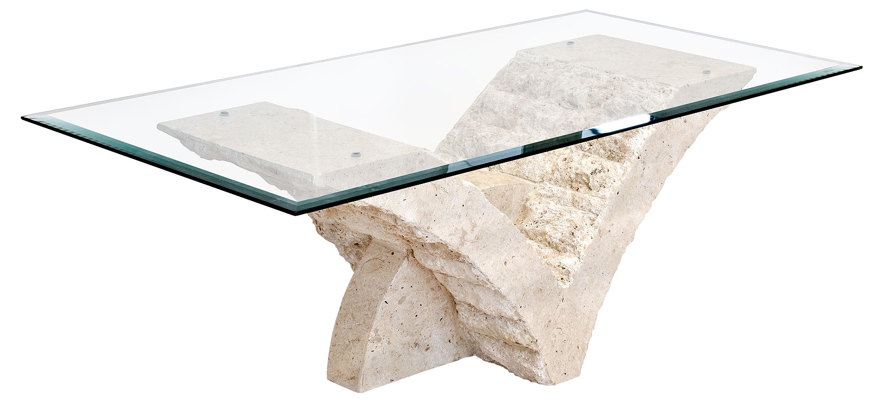 Stone Base Coffee Table.Mactan Stone And Glass Seagull Coffee Table
