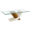Mactan Stone Glass and Bamboo Bamby Coffee Table