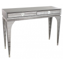 Pewter Faux Snakeskin Console Table