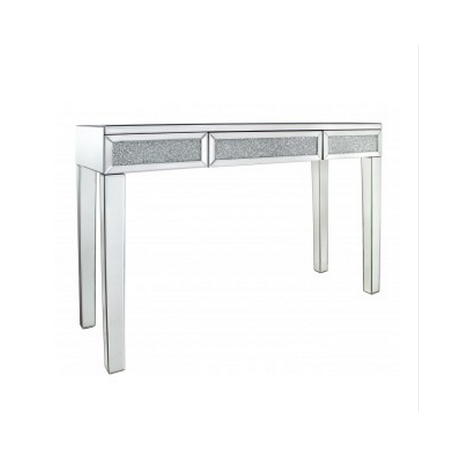 Astoria Crushed Glass And Mirror Console Table