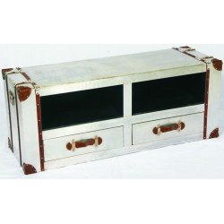 Industrial Aluminium Media Tv Stand Unit