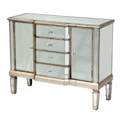 Venetian Mirror Sideboard Cupboard Chest