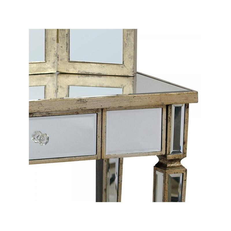 vintage-venetian-mirror-wooden-edge-dressing-table-set