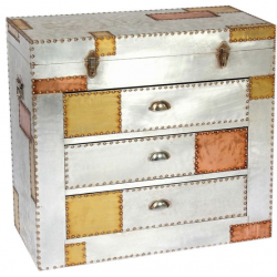 Aluminium and Copper 3 Drawer Chest