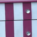 Pink and White Stripe Bedside Lamp Table