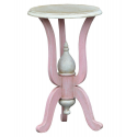 Isabella Pink Blush Round Bedside Lamp Table