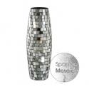 Sparkle Mosaic Silver Shell Vase