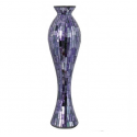 Purple Tile Mosaic Extra Tall Vase