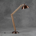 Vintage Copper With Wooden Arms Traditional Extra Large Floor Lamp