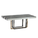 Black, Gold And Clear Milano Deco Dining Table