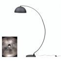 Large Arc Style Floor Lamp in Matt Black