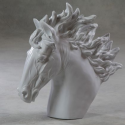 Extra Large White Horse Head Statue