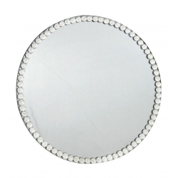 Crystal Gem Round Mirror Large Candle Plate