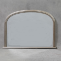Antique Silver Classic Overmantle Mirror